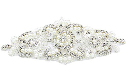 Cinturón de apliques de boda Aplique de diamantes de imitación de cristal...