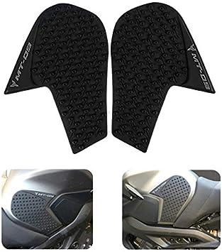 Laoowang Motorrad Anti Rutsch Tankpad Für Yamaha Mt 09 2014 2018 Tank Traction Pad Seite Knie Grip Protector Auto