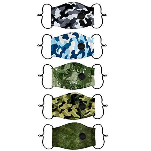 Humeng 5PC Kids Austauschbare Filter Wiederverwendbare atmungsaktive Schutzbaumwolle 5er Pack