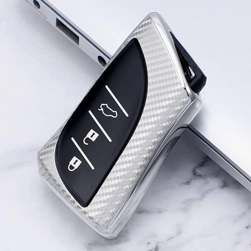 KSKKD NuevaCarcasa de TPU de Fibra de Carbono para Llave de Coche, para Lexus UX200 UX250h ES200 ES300h ES350 US200 US260h 2018 2019