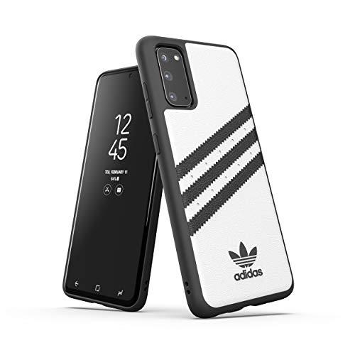 adidas Originals Designed für Samsung Galaxy S20 Hülle DREI Streifen Schutzhülle - Weiß & Schwarz