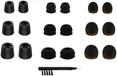 NICKSTON N 4 Assorted Replacement Set Ear Tips Adapters Gels Buds with Box Organizer and Cleaning product image