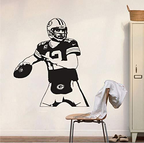 Green Bay Packers Aufkleber Aaron Wandtattoo Art Decor Aufkleber Vinyl Poster Packers Wandbild Removable Home Decor 56 * 66 Cm