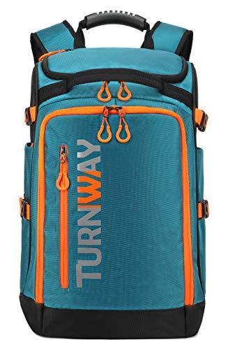 TurnWay Ski/Snowboard Boot Bag/Skating Bag | Excellent for Store and Transport Gear Jacket Helmet Goggles Gloves amp Accessories BlueOrange