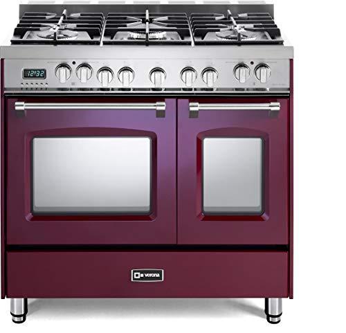 Verona Prestige Series VPFSGE365DBU 36 inch. Dual Fuel Range 5 Sealed Burners Double Oven Convection...