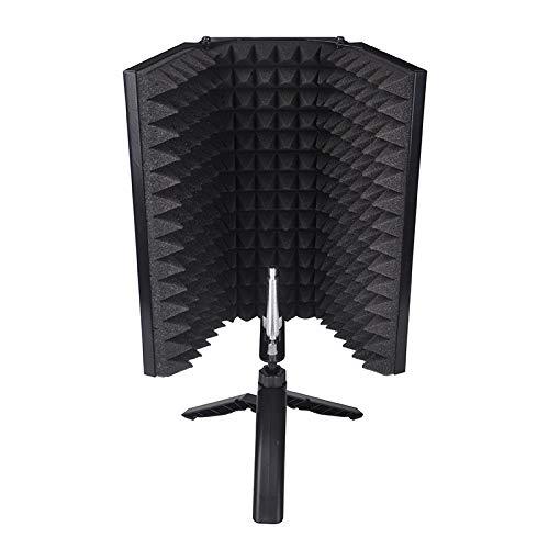 Winbang Escudo de sonido, micrófono plegable Escudo de aislamiento acústico Espumas acústicas Panel Studio para grabar accesorios de micrófono de transmisión en vivo