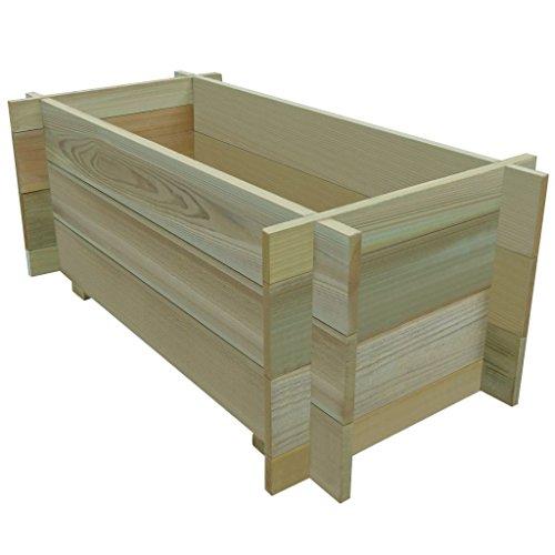 Galapara Holz Kompostsilo Bausatz - Stabiler Holzkomposter Komposter Kompostbehälter Hochbeet 80 x 40 x 32 cm, sehr robust, sehr einfacher Aufbau ohne Werkzeug, völlig schadstofffrei