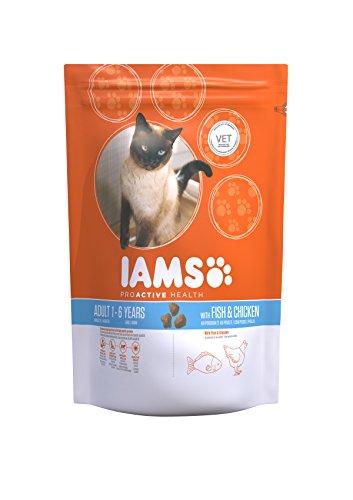 Iams Adult Trockenfutter mit Meeresfisch (für erwachsene Katzen, enthält viel hochwertiges tierisches Protein), 15 kg Beutel