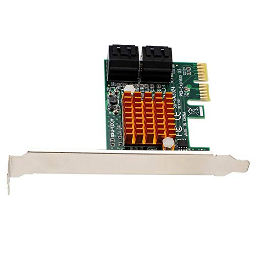Socobeta Tarjeta Vertical Tarjeta de expansión de disipador de Calor más Grande Circuito de Cuatro Capas PCI-E a Sata3.0 Diseño Empotrado Durable para computadora de Escritorio