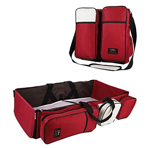 Theaceae Bolsa de pañales 4 en 1 para bebé, mochila para bebé, bolso cambiador, portátil, portátil, portátil, portátil, portátil, multiusos, bolsa de viaje para camping