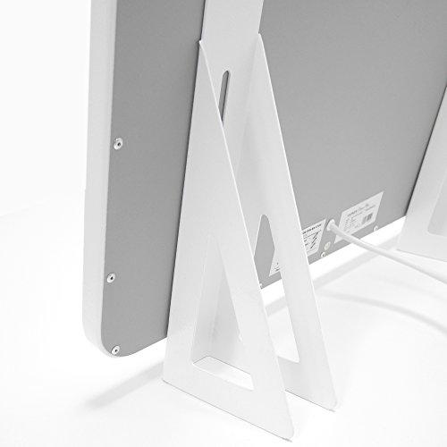 VASNER Standfüße für Infrarotheizungen der Citara Serie Glas, Metall und Metall-Plus, weiß, höhenverstellbar