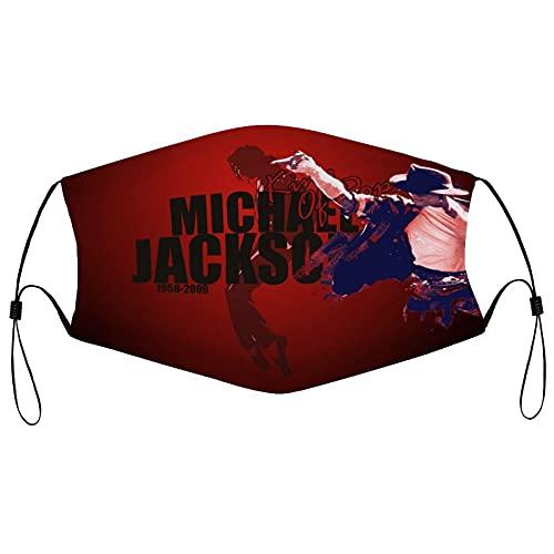 Best-design Máscara facial Mike Jackson, reutilizable, hecha de tela, lavable, cubrebocas, cubierta solar, pasamontañas, bufanda para pesca, ciclismo