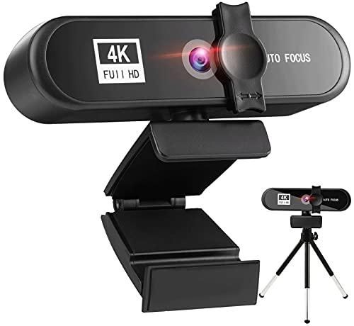 Kettles Cámara Web 4K 1080P Completo HD Cámara Web con micrófono. USB Enchufe la cámara Web para la Conferencia en Vivo en línea de la computadora portátil de enseñanza Ordenador Personal Escritorio