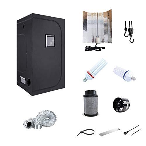 Growset Komplettset 90x50x180 Energiesparlampe ESL 150W Blüte Wuchs inkl. Abluft