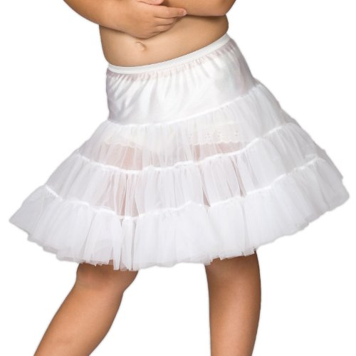 I.C. Collections Baby Girls White Bouffant Half Slip Petticoat, 18m