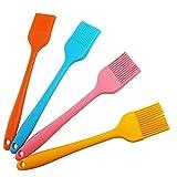 Youda Silikon Pinsel, 21cm(4er Pack, Bunte), Backpinsel, Grillpinsel, Hitzebeständige, Weich und...