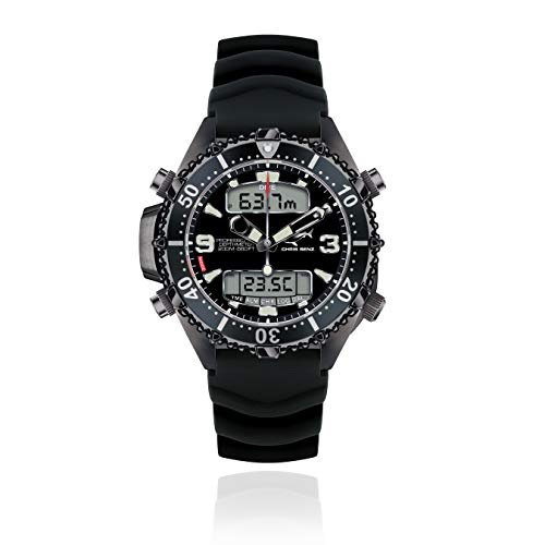 CHRIS BENZ Depthmeter Digital 200M Special Edition Taucheruhr, Stachelrochengrau