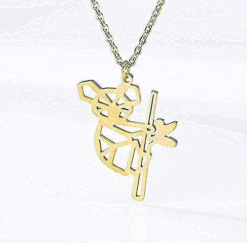 Collar de moda para hombres, mujeres, tatuaje de animales, gargantilla, collar con dijes, cadena australiana, collar con colgante de oso koala para mujer, joyería, collar colgante, regalo para niñas y