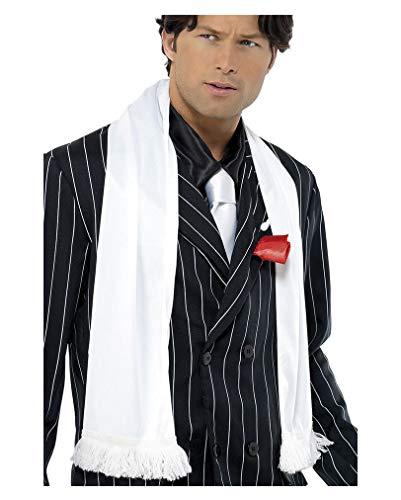 Écharpe blanche Mafia avec une frange