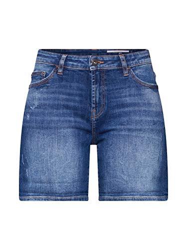edc by ESPRIT Damen 990CC1C301 Shorts, 902/BLUE MEDIUM WASH, 30