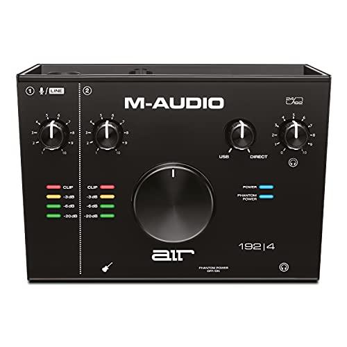 M-Audio AIR 192|4 - Scheda Audio USB / USB-C, 2 Entrate, 2 Uscite per Registrazione Professionale su Mac o PC con Pacchetto Software incluso