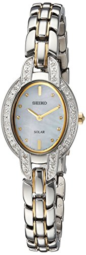 Seiko Women's TRESSIA Japanese-Quartz Watch with Two-Tone-Stainless-Steel Strap, 9 (Model: SUP325)