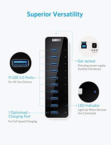 Hub USB-C, Adaptador 8 en 1 4K HDMI, Gigabit Ethernet, lectores de Tarjetas SD/Micro USB 3.0 - Compatible con MacBook Pro y más, Gris Espacial