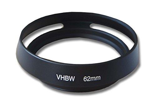 vhbw Gegenlichtblende 62mm, schwarz passend für Fuji/Fujifilm XF 23 mm F1.4 R, XF 55-200 mm F3.5-4.8 R LM OIS, XF 56 mm 1,2 R APD Objektiv Metall