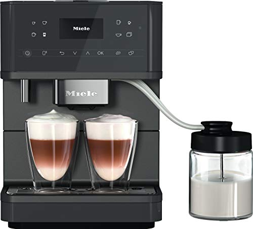 Miele CM 6560 MilkPerfection Kaffeevollautomat / Getränkevielfalt / Expertenmodus / mit Milchgefäß / OneTouch for Two / Vernetzung WiFiConn@ct / 8 Genießerprofile / Graphitgrau PearlFinish