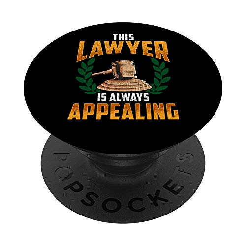 This Lawyer Is Always Appealing Funny Law Courtroom Pun PopSockets Supporto e Impugnatura per Smartphone e Tablet