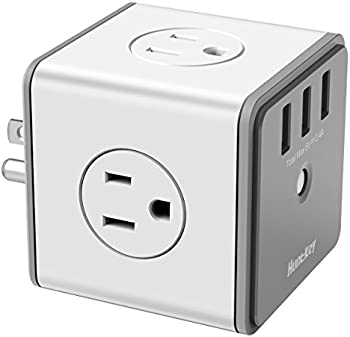Huntkey Cubic Surge Protector with 4 Outlets & 3 USB Ports