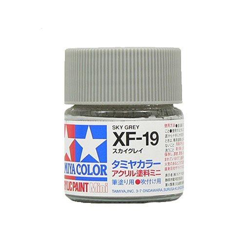 タミヤカラー アクリルミニ XF-19 スカイグレイ つや消し