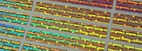 Holomarks 100 St. Hologramm Etiketten mit Seriennummern, Garantie Siegel Aufkleber 48x7.5mm
