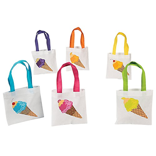 Reusable Ice Cream Tote Bags (set of 12)
