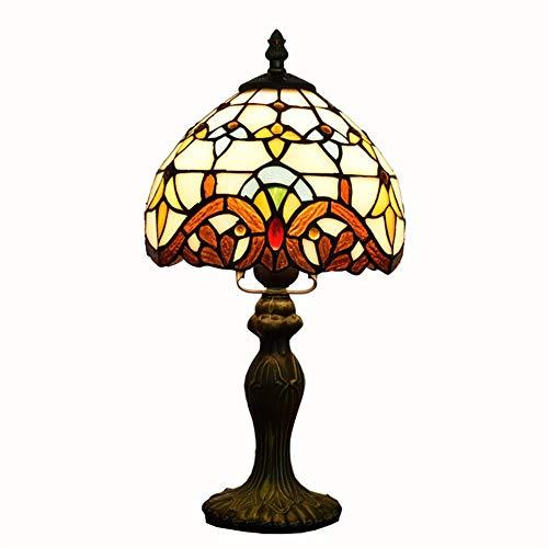 Europäischen Stil Tischlampe Tiffany Stil Glasmalerei 8 Zoll Barock Kreative Schlafzimmer Nachttischlampe Durchmesser 20 CM Kleine Schreibtischlampe Wenig Nachtlicht