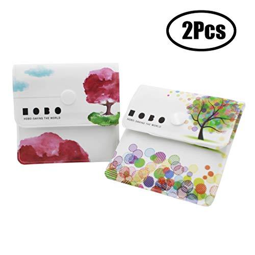 Xhuan 2 Tasche posacenere tascabili Grigie - PVC ignifugo - Senza Profumo - Compatto Portatile -...