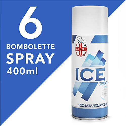 AIESI® Kältespray mit MENTHOL 400 ml dose ICE SPRAY (Packung mit 6 stück) # Made in Italy