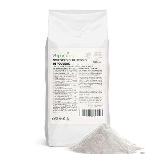 SCIROPPO DI GLUCOSIO IN POLVERE - Ideale per Gelati, Sorbetti e Dolci - 1,5 kg