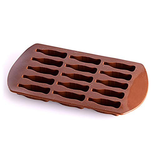Zeiwohndc 15 Grid Coke Bottle Shape Ice Freezing Mold Tray Ice Cream Maker Popsicle Yogurt DIY Mould Available Reusable Tool with Brown