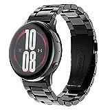 Tosenpo Correa per Galaxy Watch Active/Galaxy Watch Active 2 40mm/44mm,Correa de Reloj de Acero Inoxidable de 20 mm para Samsung Galaxy Watch 3 41mm/Galaxy Watch 42mm (Nero)
