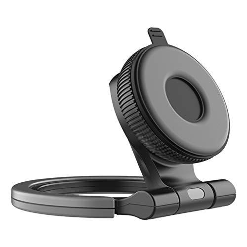 SNOWINSPRING Soporte para TeléFono con Ventosa para y TeléFono 360 Grados Soporte Universal para Pared, Escritorio para TeléFono Inteligente 2 en 1, Negro