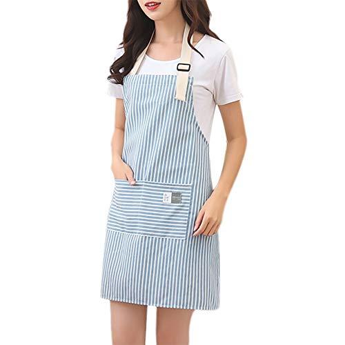 ZGPTX Delantales de Cocina para Mujer, Delantal Ajustable, Vestido para cocinar, Hornear,...