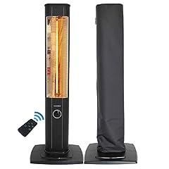 VASNER StandLine 25R Projecteur de chauffage à infrarouge 2500 watts avec capot - Radiateur chauffant terrasse électrique, télécommande, couverture des projecteurs en terrasse, faisceaux infrarouges en carbone - noir