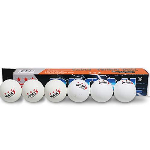 Ruiqas 6Pcs 40Mm Pelotas de Tenis de Mesa de Ping Pong para Entrenamiento de Competición