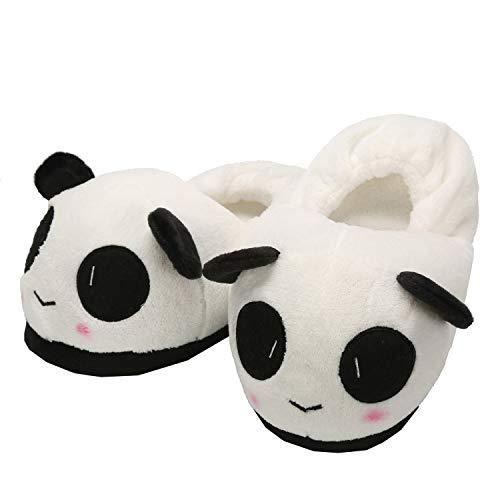 Chuangminghangqi Hausschuhe Panda Plüsch Tierschuhe Erwachsene Unisex Warm Winter Hausschuhe Hausschuhe Hausschuhe Hausschuhe, Weiß - weiß - Größe: Einheitsgröße