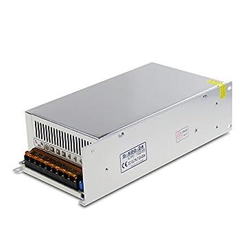ALITOVE DC 24V 20A 480W Power Supply Transformer Switch AC 110V / 220V to DC 24V 20amp Universal Regulated Switching Adapter Converter for LED Strip Light CCTV Camera Security System