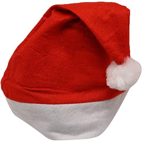 Gifts SHATCHI-1106 Chapeau de Père Noël en feutre Rouge/blanc