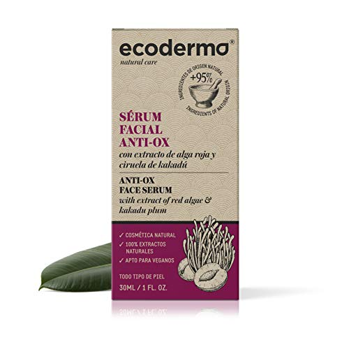Ecoderma Facial Anti-Ox Face Serum 30ml - Improves Its Restructuring And Provides Brightness And Turgence