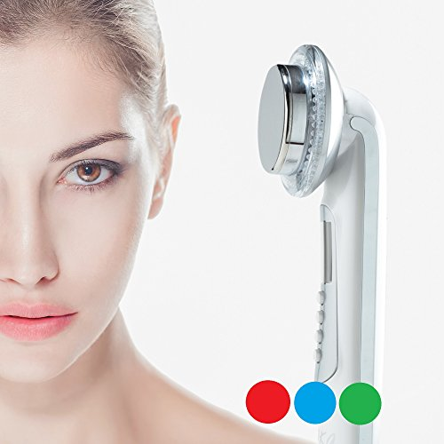 Rika LED facial massager. Photo LED light therapy Facial Massager, Light Therapy Device for Acne, Vibration Skin Firming Care