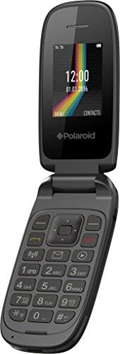 Polaroid Link A2 Flip Phone 2G GSM Unlocked Dual Sim Bluetooth Radio FM Mp3 Player, Black (Worry-Free 12-Month Warranty Included)